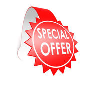 Special offer star label — Stock Photo