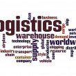 Logistics word cloud — 图库照片