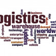 Logistics word cloud — Stock Photo