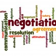 Stock Photo: Negotiation word cloud