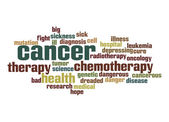 Cancer word cloud — Stock Photo