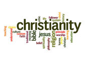 Christianity word cloud — Stock Photo
