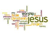 Jesus word cloud — Stock Photo