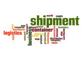 Shipment word cloud — Stock Photo