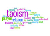 Taoism word cloud — Stock Photo