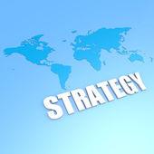Strategy world map — Stock Photo