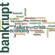 Stock Photo: Bankrupt word cloud