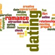 Dating word cloud — Stock Photo