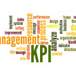 Stock Photo: Key Performance Indicator word cloud