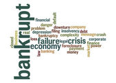 Bankrupt word cloud — Stock Photo