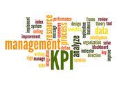 Key Performance Indicator word cloud — Stock Photo
