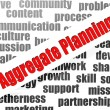 Aggregate planning word cloud — Stockfoto #41430609