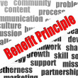 图库照片: Benefit principle word cloud