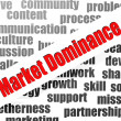Market dominance word cloud — Stockfoto #41430913