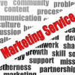 Marketing service word cloud — Stockfoto #41430957