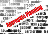 Aggregate planning word cloud — Stockfoto