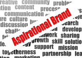 Aspirational brand word cloud — Stock Photo
