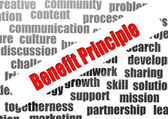 Benefit principle word cloud — Stock Photo