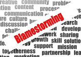 Blamestorming word cloud — Stock Photo