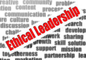 Ethical leadership word cloud — Stock Photo