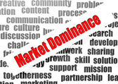 Market dominance word cloud — Stock Photo