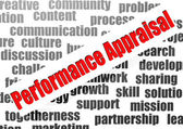 Performance appraisal word cloud — Stock Photo