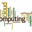 Stock Photo: Cloud computing word cloud