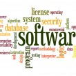 Software word cloud — Stockfoto #41489991