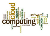 Cloud computing word cloud — Stock Photo