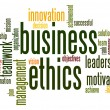 Stock Photo: Business ethics word cloud
