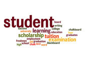Student word cloud — Foto Stock