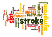 Stroke word cloud — Stock Photo