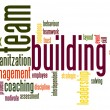 Stock Photo: Team building word cloud