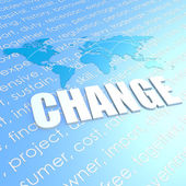 Change world map — Foto de Stock