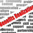 Stock Photo: Benefits realization word cloud