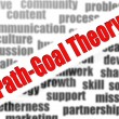 Stock Photo: Path-goal theory word cloud