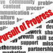Stock Photo: Pursuit of progress word cloud