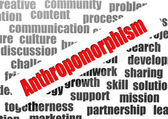 Anthropomorphism word cloud — Stock Photo