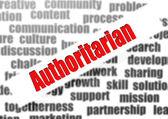 Authoritarian word cloud — Stock Photo