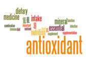 Antioxidant word cloud — Stock Photo
