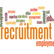 Recruitment word cloud — Stock Photo #41995645