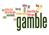 Gamble word cloud — Stock Photo