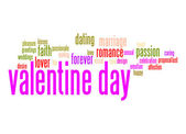 Valentine day word cloud — Stock Photo