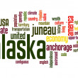Alaska word cloud — Stock Photo
