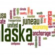 Stock Photo: Alaska word cloud