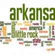 Stock Photo: Arkansas word cloud