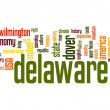 Stock Photo: Delaware word cloud