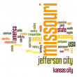 Stock Photo: Missouri word cloud