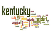 Kentucky word cloud — Stock Photo