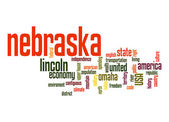 Nebraska word cloud — Stock Photo